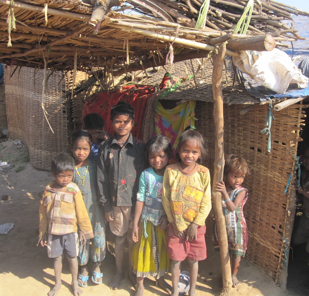Dangi children in the camp